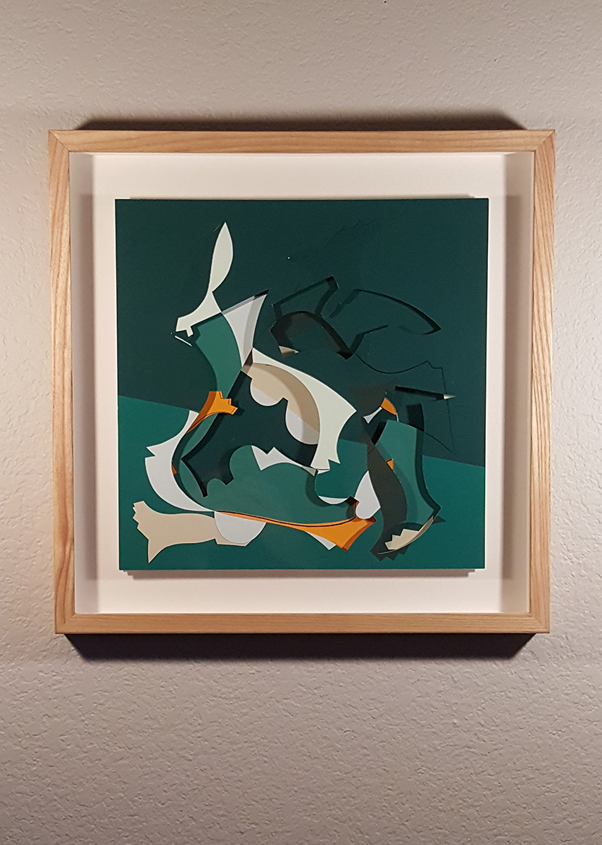 The Tortoise, The Hare and The Debutante's Underwear; After The Race 16x16 $2500